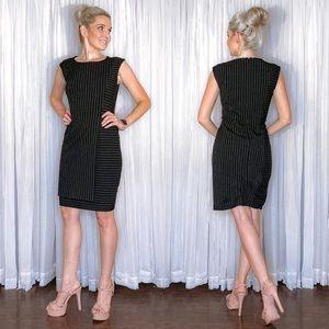 Black Pin Stripe Dress Calvin Klein